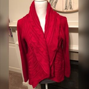 Style & Co Red Cardigan Large